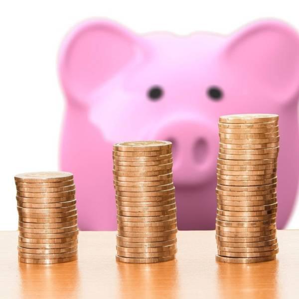 Geld und Sparschwein